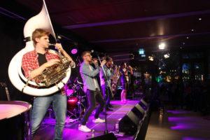 Jazz in den Ministergärten // Duke Brass in der Landesvertretung Brandenburg (c) brandenburg.de